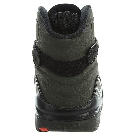 20ecc62c36e Nike Air Jordan 8 Retro Take Flight Olive Green - Sequoia/Max Orange-Black  Trainer: Amazon.co.uk: Shoes & Bags