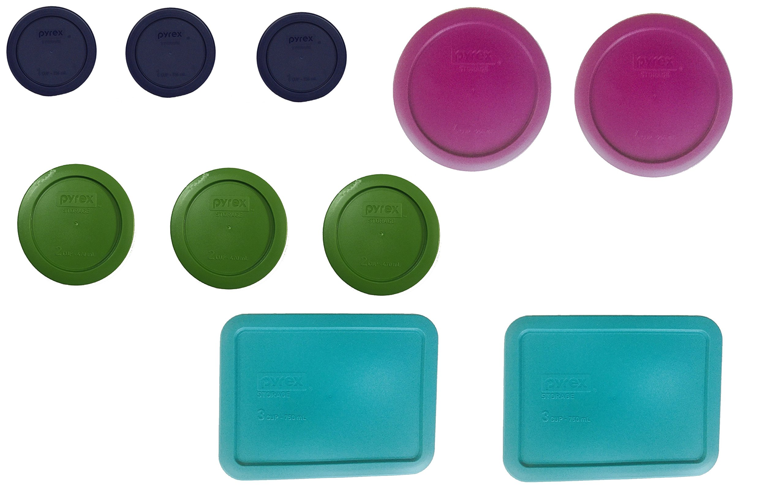 Replacement lids for Pyrex 20 piece set (10 Lids only) by Pyrex