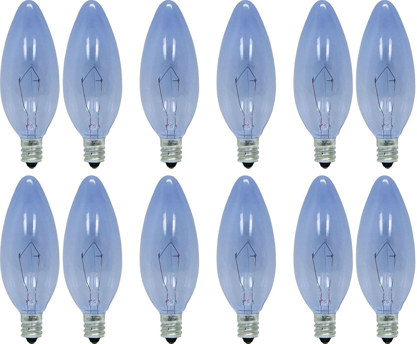 GE Lighting 75201 60-Watt 455-Lumen Blunt Tip Light Bulb with Candelabra Base, 12-Pack