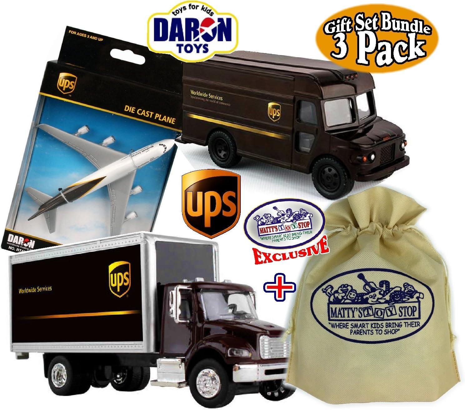 UPS Pullback Package Truck Daron ToyPullback Children VehicleGift New