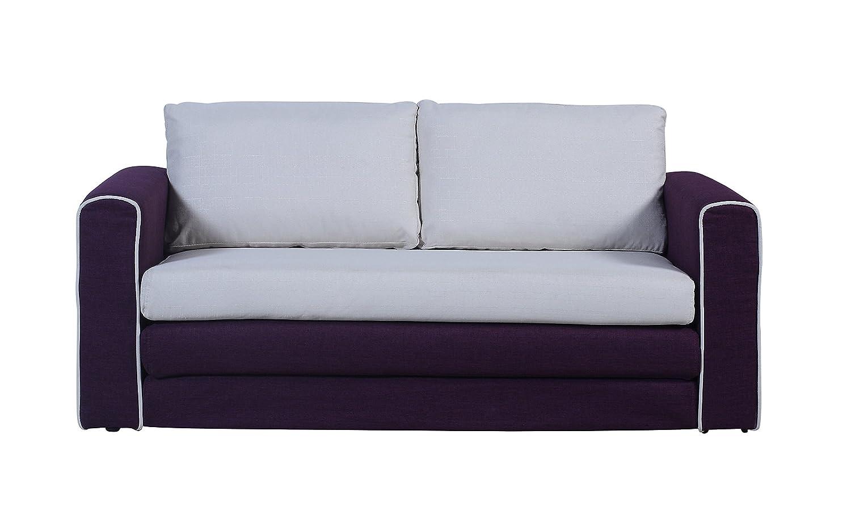 Divano Roma Furniture Modern 2 Tone Modular Convertible