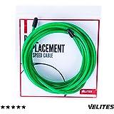 Cable de repuesto para comba de saltar de Crossfit, Fitness y Boxeo por VELITES | PVC Verde y acero de 4 mm | Para mejorar musculatura y coordinación | Compatible con otras marcas.