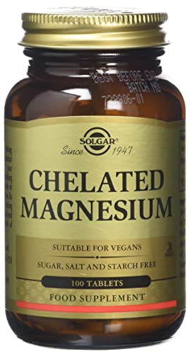 Solgar Chelated Magnesium Tablets - Pack of 100
