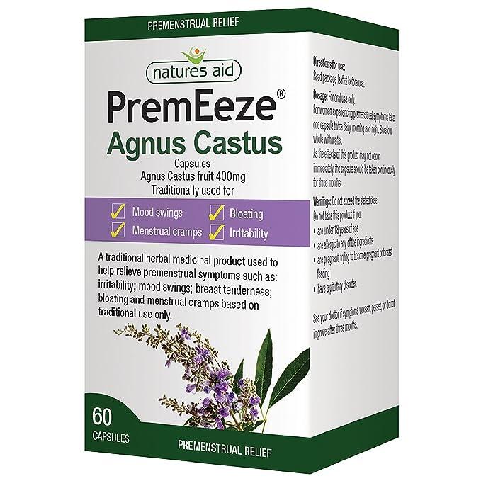 PremEeze Agnus Castus 400mg 60 caps: Amazon.es: Salud y cuidado personal