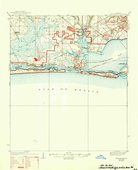 Mary Ester Florida Map.Amazon Com Yellowmaps Mary Esther Fl Topo Map 1 62500 Scale 15 X