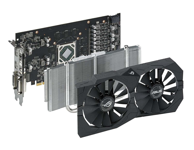 ASUS ROG Strix Radeon Rx 570 O4G Gaming OC Edition GDDR5 DP HDMI DVI VR Ready AMD Graphics Card (ROG-STRIX-RX570-O4G-GAMING) RX 570 ROG STRIX RX 570 4GB OC