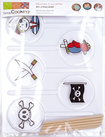 ScrapCooking 9493 Piratas Molde para Chupete Blister/PVC, 25 x 16 x 1 cm