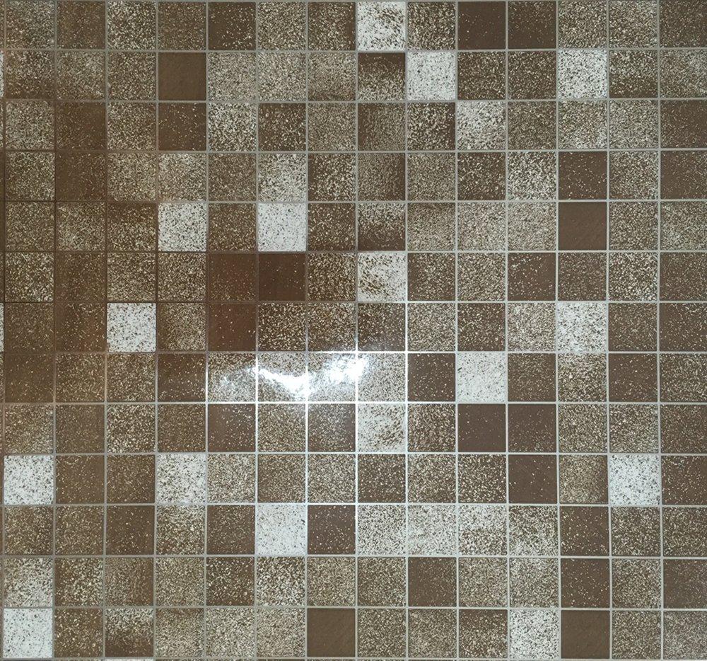 Amazon Kitchen PVC Aluminum Foil Self Adhensive Mosaic Stickers Oil Wallpaper Wall Bathroom Mirror Waterproof Sticker Brown Size 177