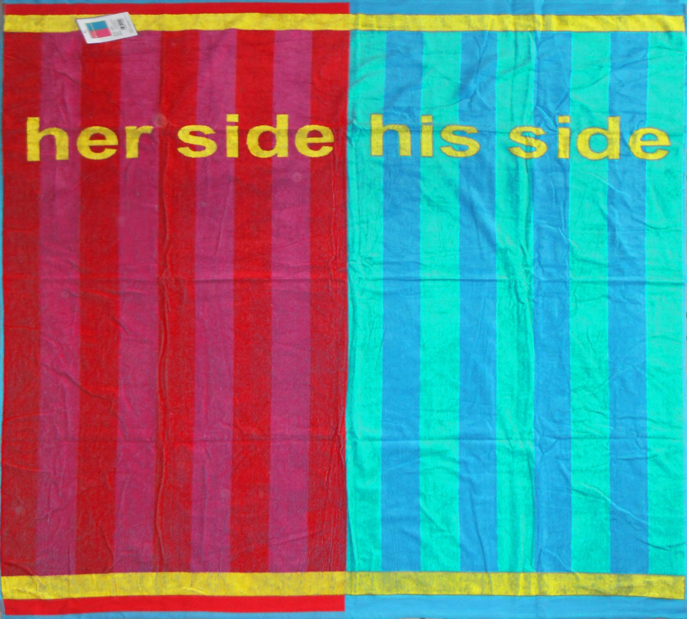 XXL Partner Medaillon, 180 x 180 cm con, extra grande, her side - his side, mullido terciopelo toallas, toalla de baño, toalla de baño: Amazon.es: Hogar