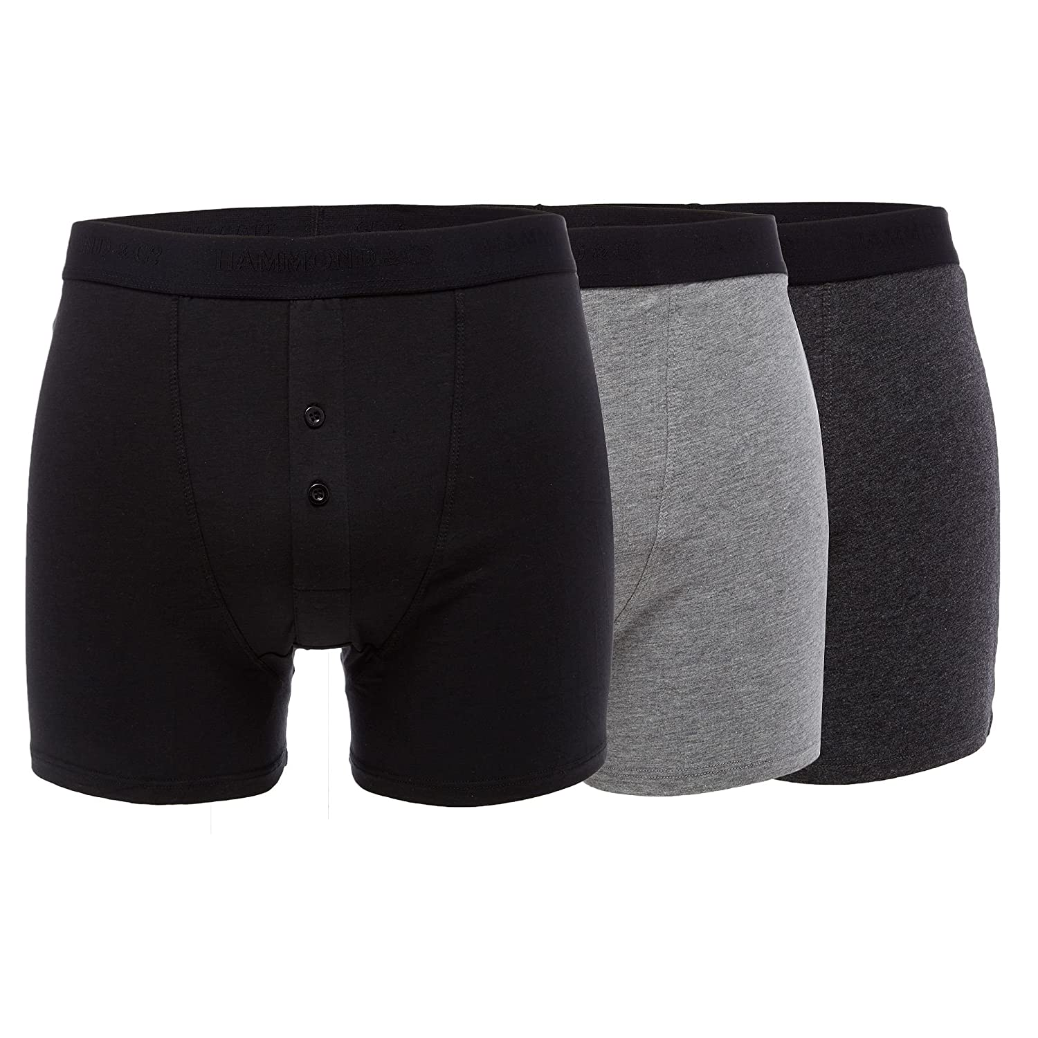 Hammond & Co. By Patrick Grant Mens Pack Of Three Grey Modal&#174 Blend Boxers