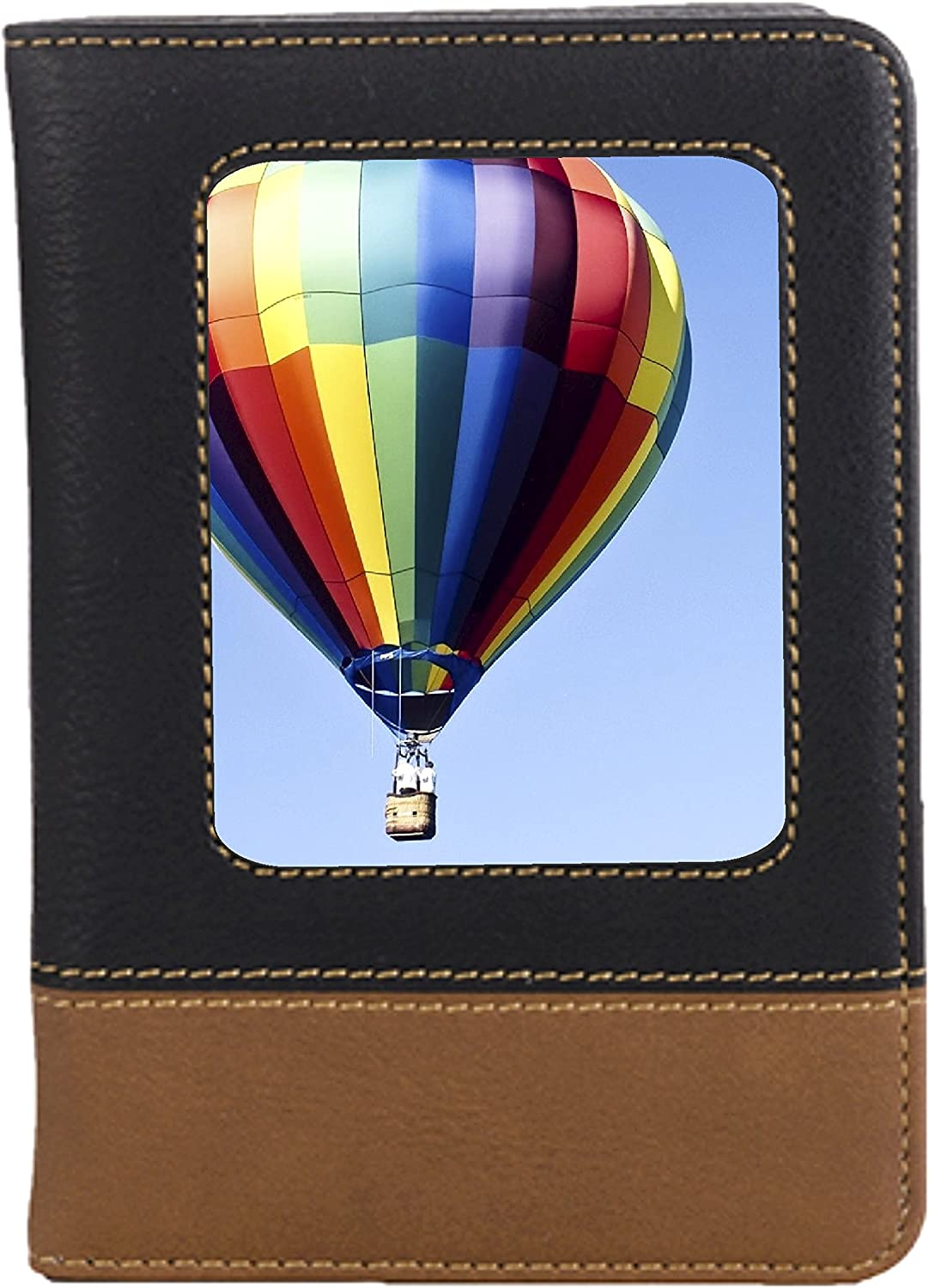 Hot Air Balloon Leatherette Passport Wallet Style Case Cover For Travel