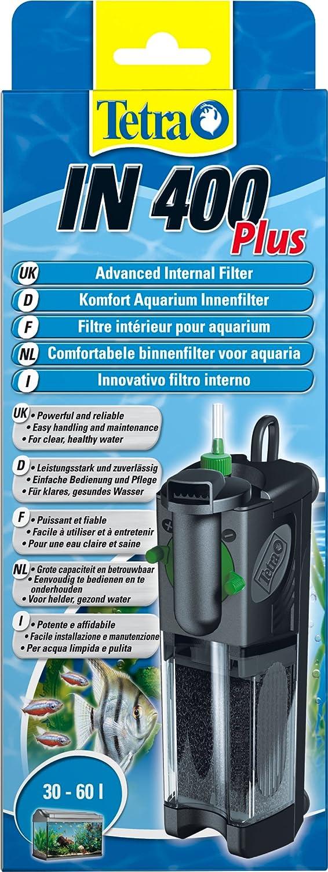 Tetra IN 400 plus Filtro interior - Filtros interiores potentes y confortables para la filtración mecánica, biológica y química: Amazon.es: Productos para mascotas