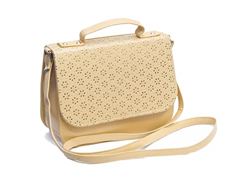 Voaka Women's Sling Bag (Beige,Boxsling): Amazon.in: Clothing ...