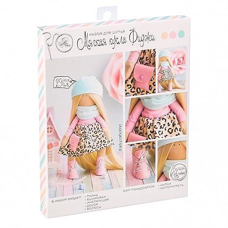 GMMH muñecas coser set muñeca de tela fidgy 29 cm muñeca rusa muñeca suave trapo suave