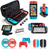 Switch Accessories Bundle for Nintendo Switch, Kit with Carrying Case, Screen Protector, Compact Playstand, Switch Game…