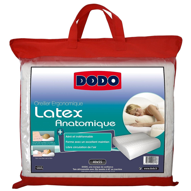 oreiller en latex dodo Dodo 60080.554 Oreiller Ergonomique Latex 55 cm x 40 cm: Amazon.fr  oreiller en latex dodo