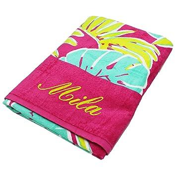 Personalizado toallas de playa, Get Well Soon Regalos para niños, Ella, Él, Con Bordado Personalizado toalla: Amazon.es: Hogar