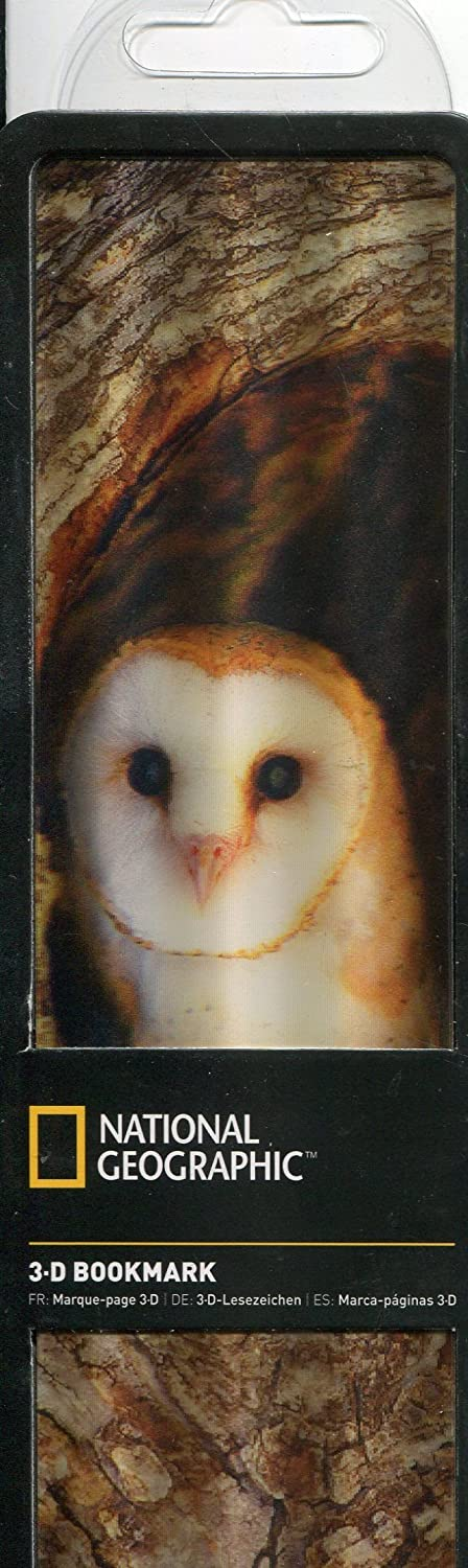 National Geographic 3D Bookmark Barn Owl