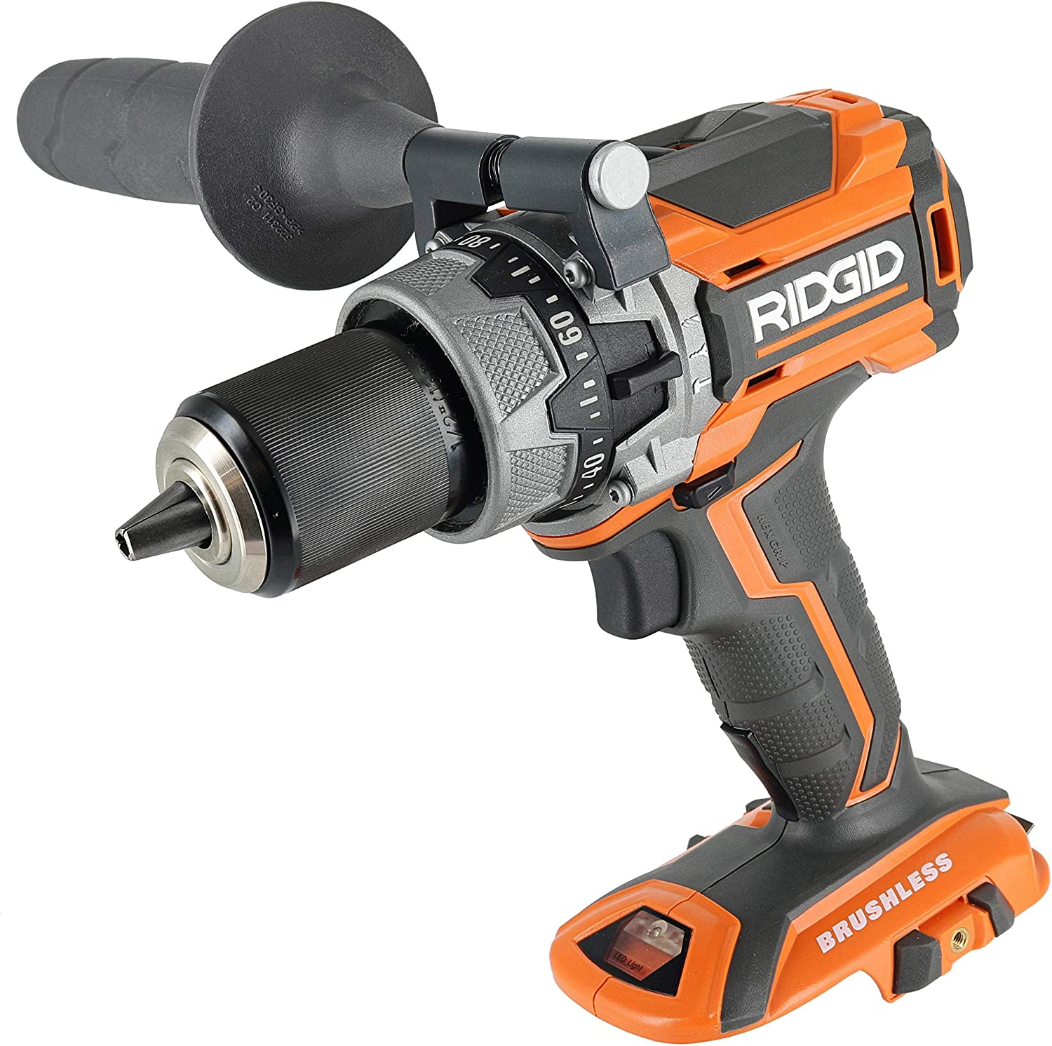 Ridgid R86116 18V Lithium Ion Cordless Brushless Compact Hammer Drill w 100-Setting Micro Clutch and LED Lighting Battery Not Included Power Tool Only