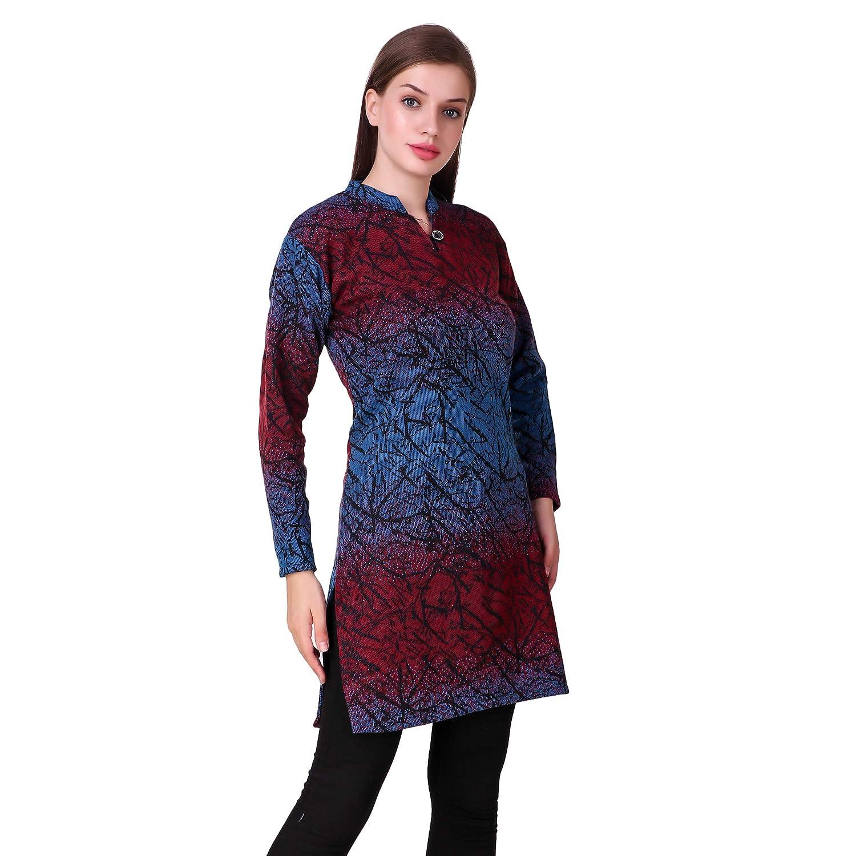 bc8d82853835 KIBA RETAIL Winter Collection Solid Women s Kurti New Stylish Designer Neck  Chinese Collar Style Winter Wear