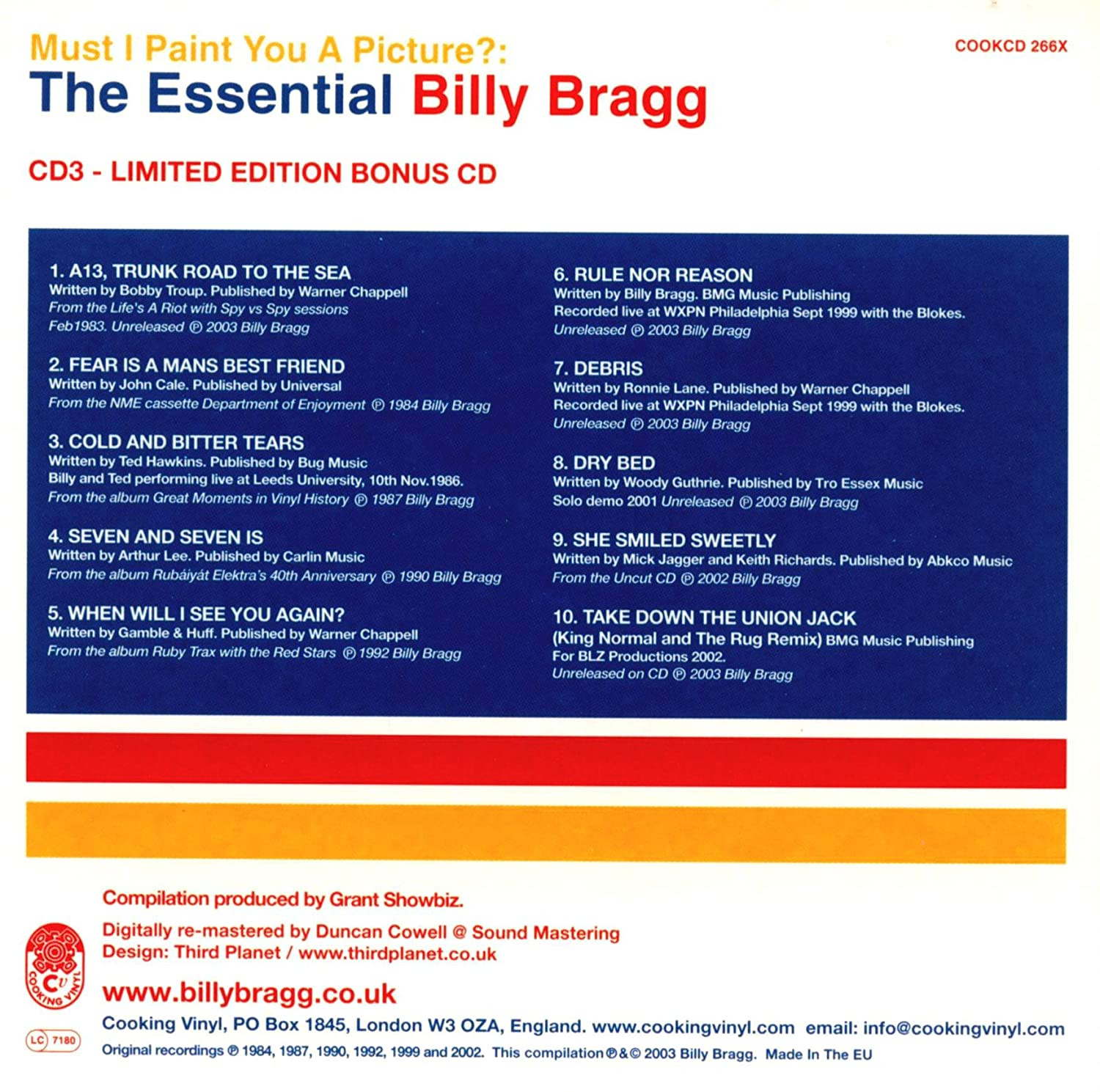 billy bragg must i paint you a picture music