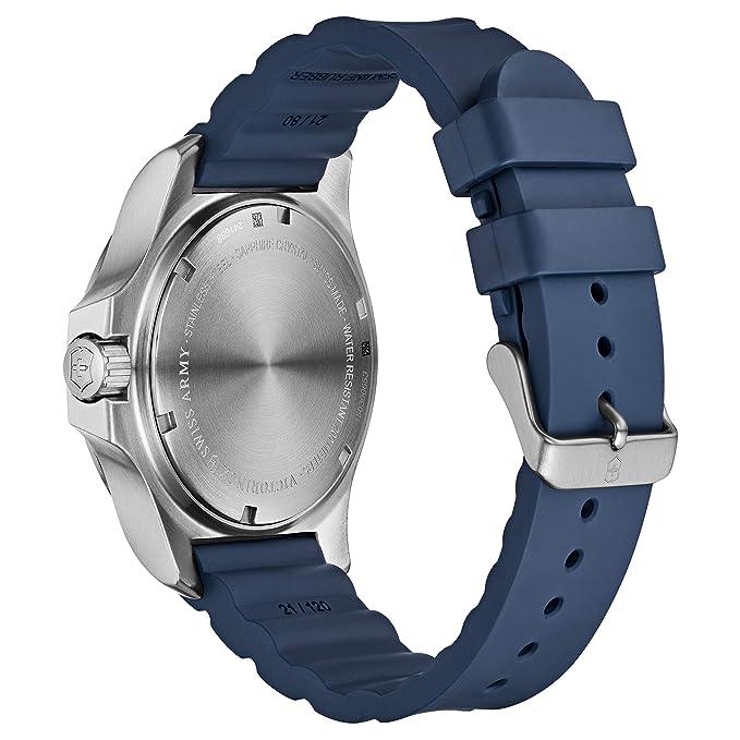 Victorinox 241688.1 - Reloj de Pulsera Hombre, Caucho, Color Azul: Victorinox: Amazon.es: Relojes