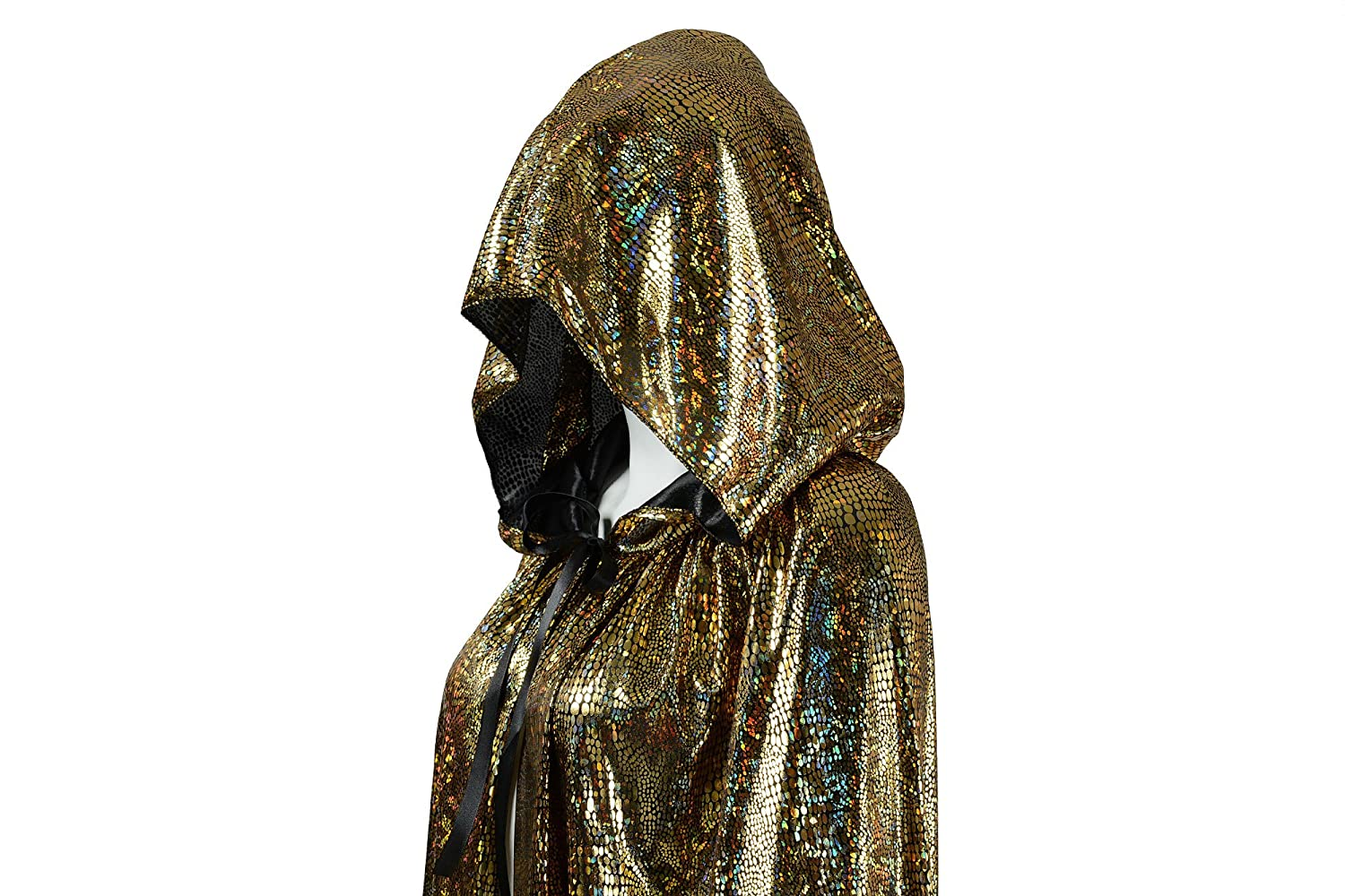 OurLore Unisex Full Length Hooded Cape Halloween Christmas Adult Cloak