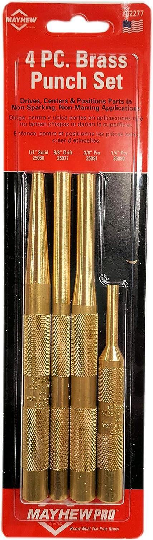 Mayhew Pro 4 Piece Brass Punch Set