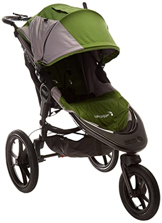 Green Baby Jogger Summit Terrain X3 Single Seat Swivel Wheel Jogger Open Box