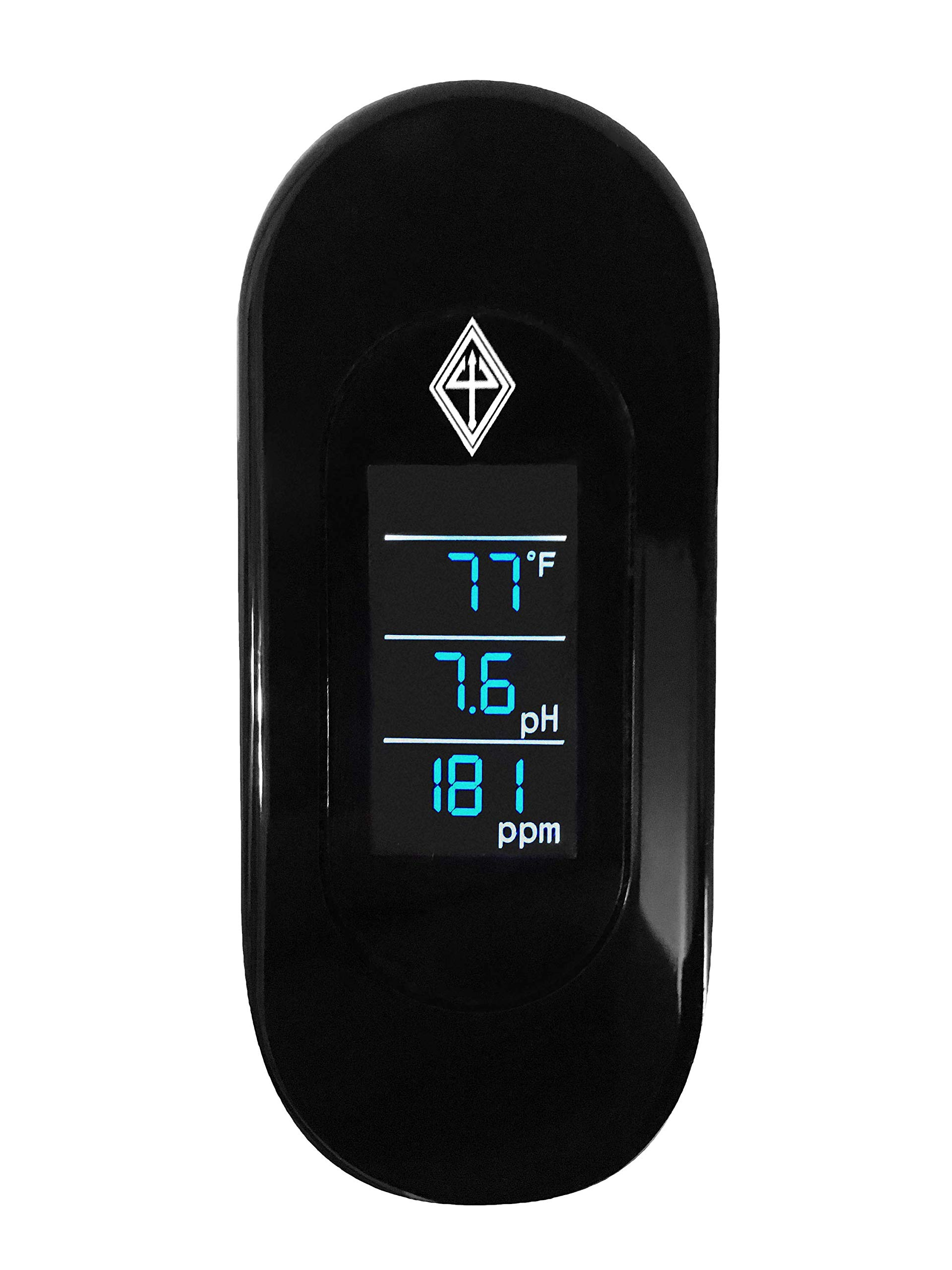 Atlantis Aquatics 3 in 1 Aquarium Meter [Temp, pH, TDS] Clamps to Fish Tank Provides Real Time Data on Aquarium Health- Fahrenheit/Celsius Thermometer, pH Meter, TDS Meter (Total Dissolved Solids) by Atlantis Aquatics