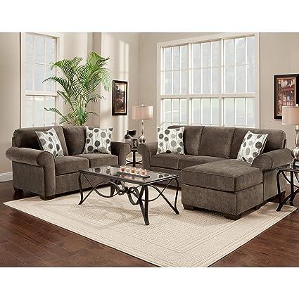 Marvelous Amazon Com Sofa Trendz Cleo 2 Piece Ash Grey Reversible Uwap Interior Chair Design Uwaporg