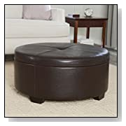 Corbett Coffee Table Storage Ottoman - Round