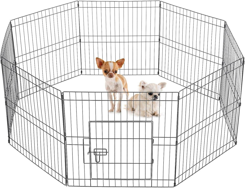 Yaheetech 8 Piezas Corral para Perros Plegable Parque para Mascotas 61 X 61 cm Vallas