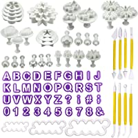 Philonext 84 pz Fondant Cake Tools Set, Fondant Cake Decorating DIY taglierina glassa stampi Alfabeto Lettere Flower Sugarcraft Modelling Tool Kit Set
