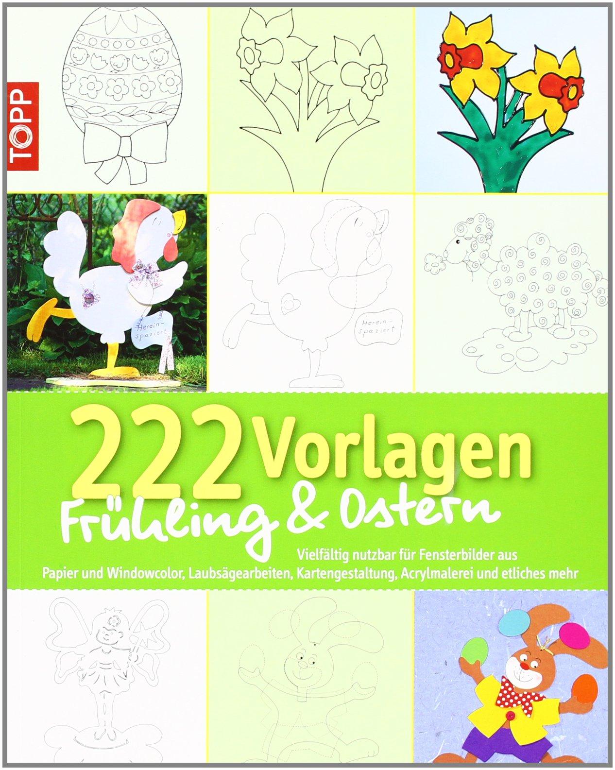 222 Vorlagen Frühlingostern Vielfältig Nutzbar Für Fensterbilder
