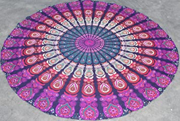 Handicrunch Round Mandala Beach Throw Roundie Yoga Mat ...