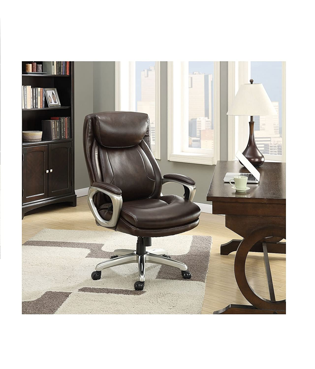 Amazon La Z Boy Connelly Big & Tall Executive Chair Brown