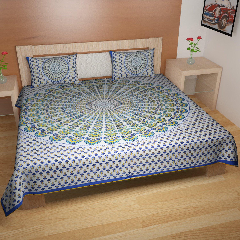 traditional mafia RSES747070 Cotton Bed-Sheet Set Multicolor 90 x 108