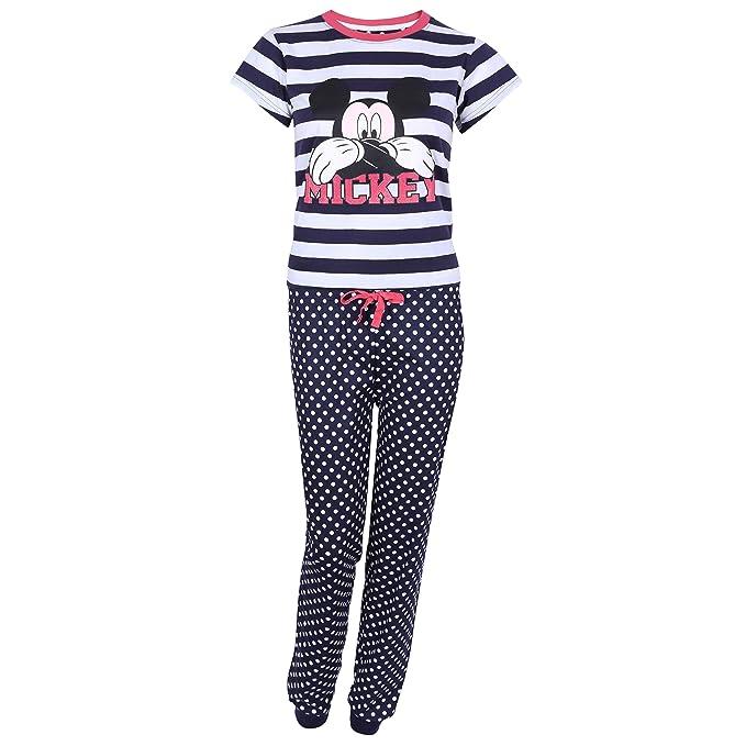 Pijama Azul Marino a Lunares, Mickey Mouse Disney - Small