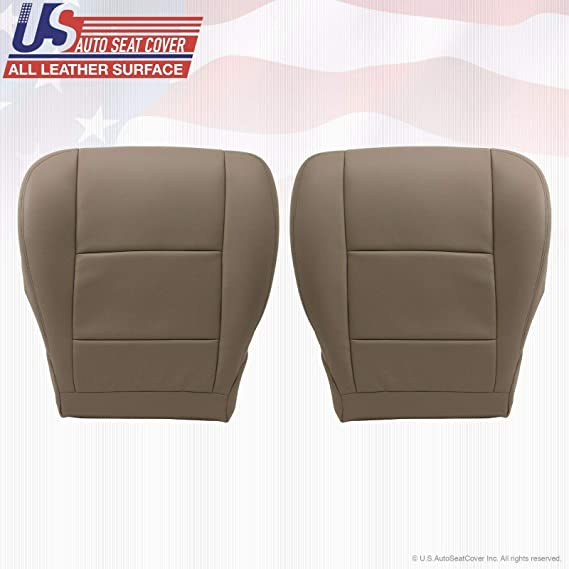 Left Bottom Tan Leather Replacement Seat Cover Fits 2003 2004 Toyota Sequoia