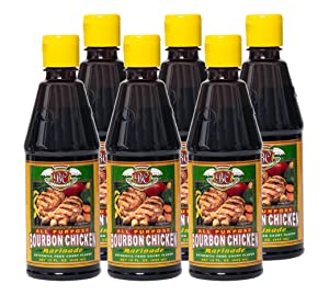 Bourbon Chicken All Purpose Marinade Authentic Food Court Restaurant Flavor | Extra Strength Smoky Hickory Seasoning Mix for Fast Marination | 6 Pack Best Value | Easy Cooking Recipes by BC Original