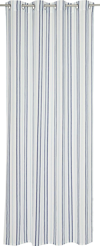 Esprit Home Blaus Ösenschal, Stoff, blau, 250 x 140 cm