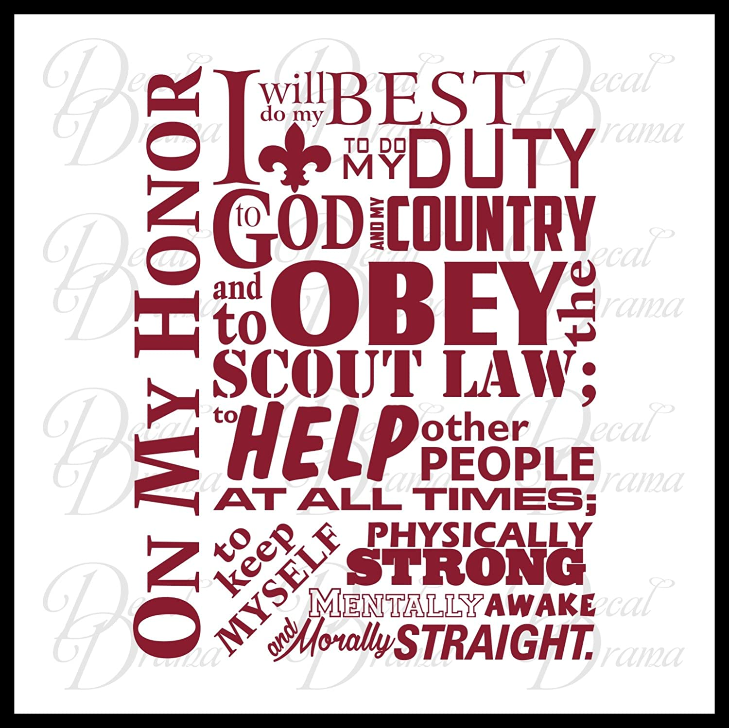 image relating to Cub Scout Oath and Law Printable titled : Boy Scout Oath Upon My Honor I will Do My Most straightforward Toward