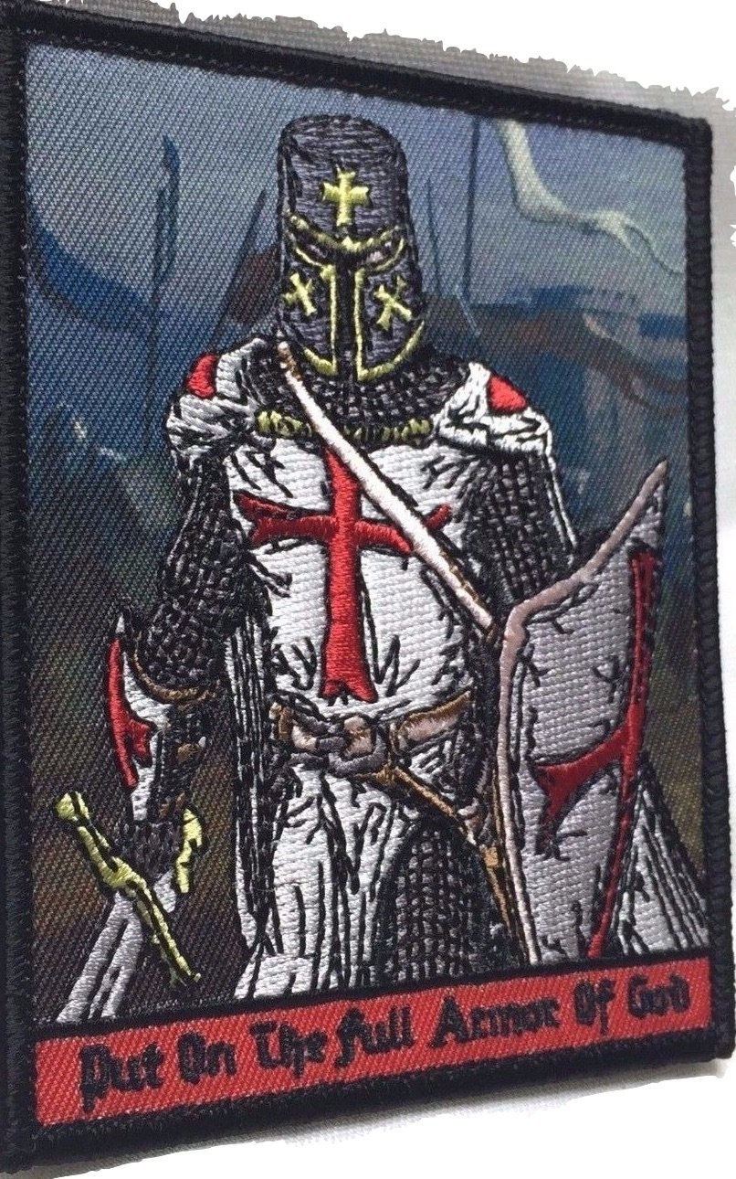 amazon com put on full armor of god knights templar morale patch