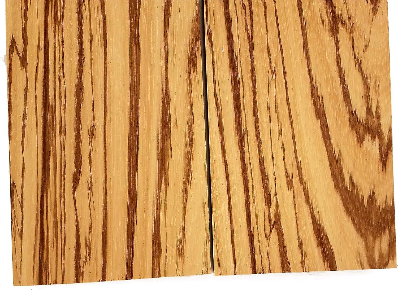 Zebrawood Lumber Board 2 Pcs 3//4 x 5 3//4 x 5 x 36