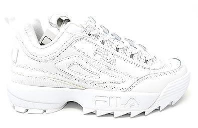Fila Men's Disruptor 2 Premium White/White/White 13 M
