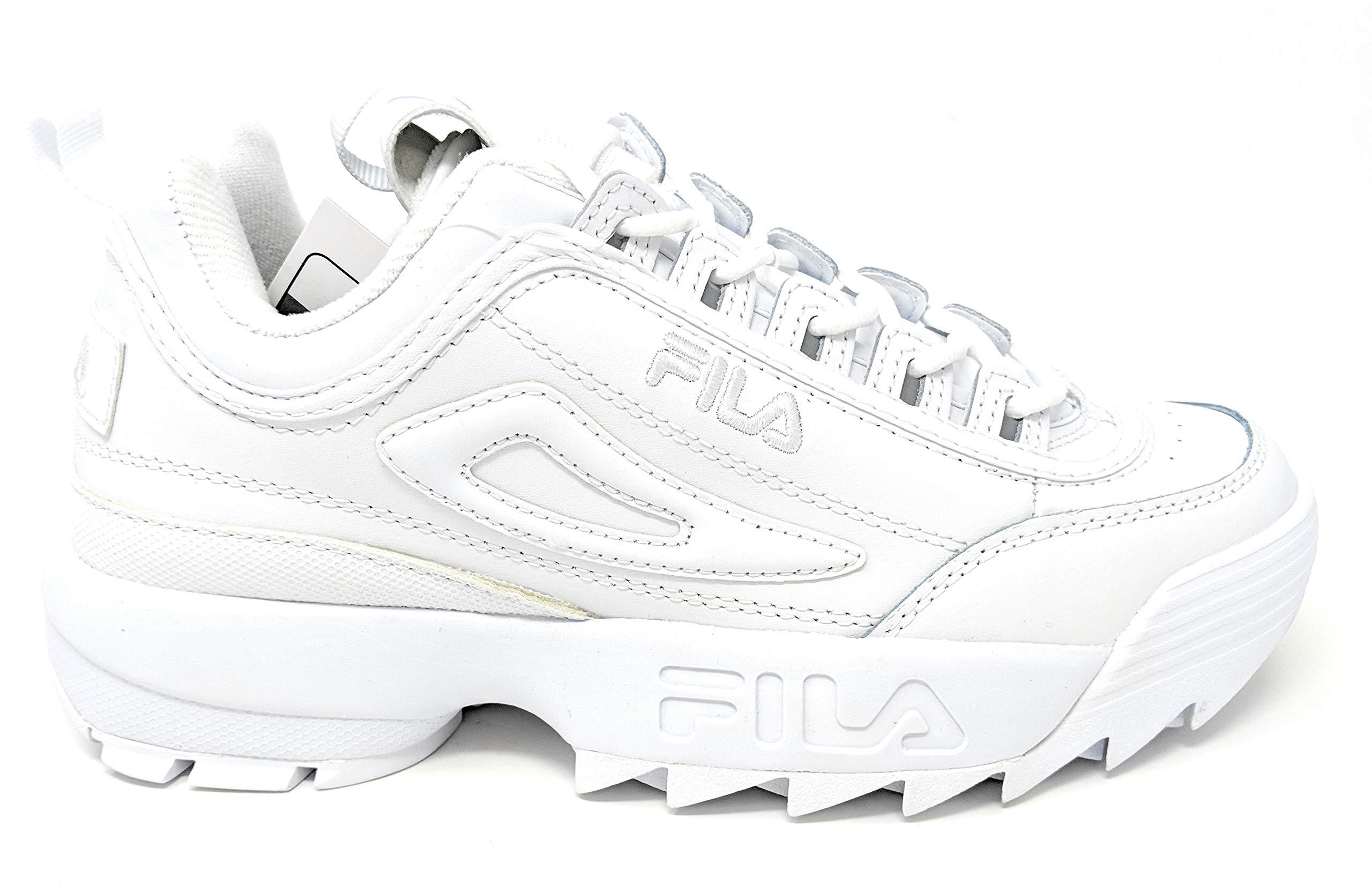 Fila Men's Disruptor 2 Premium White/White/White 10 M