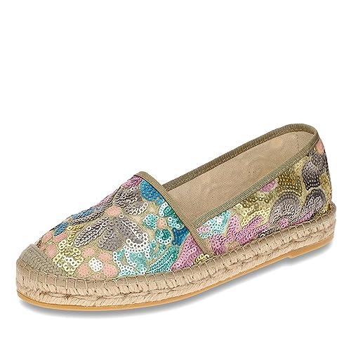 Vidorreta - Mocasines de tela para mujer, color multicolor, talla 40: Vidorreta: Amazon.es: Zapatos y complementos