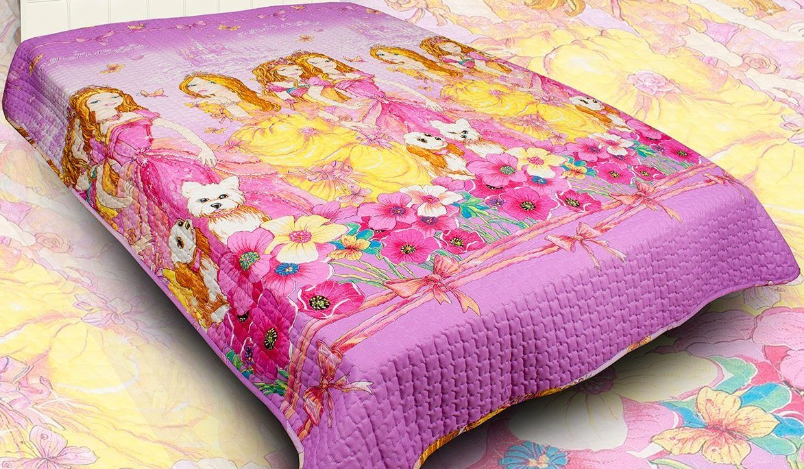 Smart And Cozy Baby Oversized Cotton Blanket - Coverlet, Quilted (Beauties (for Girl)) AVT AVT10778;10779;10780;10781