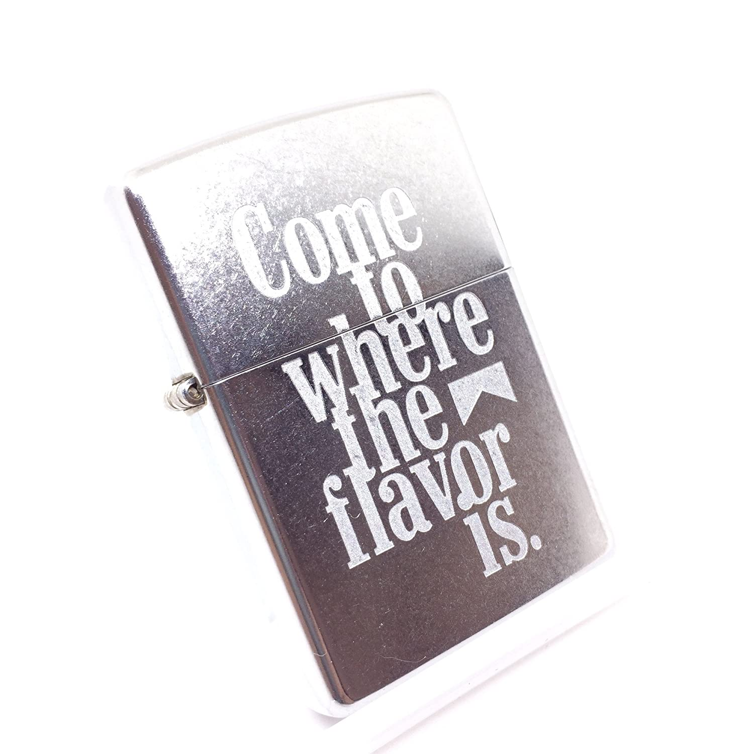 Zippo Marlboro Come To Where The Flavor Is バレル加工 2004年製 マルボロ B071L5BZMG